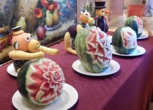 The Fruit and Vegetable Carvings. Click photo for full size.