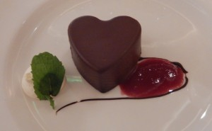 The Love Boat - Chocolate Mousse on a Chocolate Brownie. Click photo for full size.