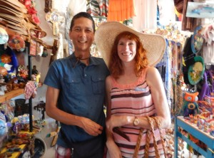 Tim and Jeri Shopping in Todos Santos. Click photo for full size.