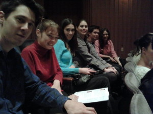 Barclay Theater - Justin, Nicole, Sarah, Joanna, Jeffrey, and Victoria. Click photo for full size.