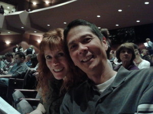 Jeri and Tim Waiting to See The Kings Singers. Click photo for full size.