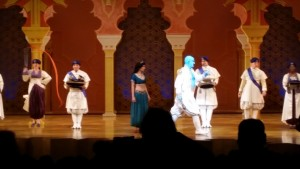 Genie at the Aladdin Show. Click photo for full size.