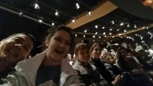 Tim, Lizzie, Nicole, Joanna, Josiah, and Victoria awaiting the Aladdin Show. Click photo for full size.