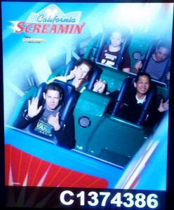 California Screamin' - Justin, Jeri, and Tim. Click photo for full size.