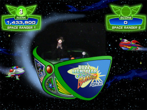 Jeffrey with third highest score of the day on Buzz Lightyear Astro Blasters. Click photo for full size.