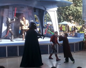 Josiah attacks Darth Vader. Click photo for full size.