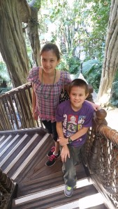 Lizzie and Josiah at Tarzan's Treehouse. Click photo for full size.