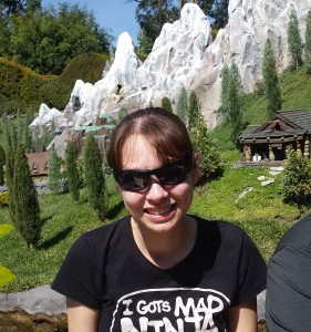 Nicole on Storybook Land Canal Boats. Click photo for full size.
