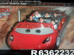 Radiator Springs Racers - Tim, Victoria, Josiah, Unknown, Lizzie, and Nicole. Click photo for full size.