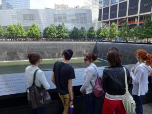 At the 9-11 Memorial. Click photo for full size.