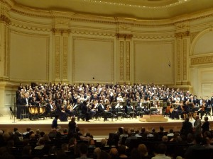 Carnegie Hall Stage. Click photo for full size.