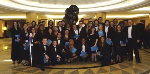 Chambers Singers in Hilton Lobby. Click photo for full size.