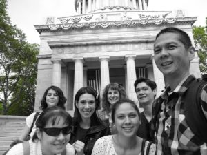Front - Nicole, Victoria, and Tim. Back - Joanna, Sarah, Jeri, and Jeffrey outside of Grant's Tomb. Click photo for full size.