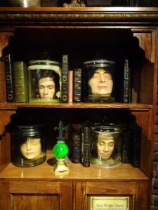 Jeffrey and Sarah's heads in jars at Ripley's Believe It or Not! Click photo for full size.