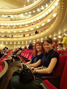 Jeri and Nicole in Carnegie Hall. Click photo for full size.