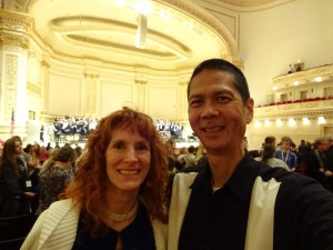 Jeri and Tim at Carnegie Hall. Click photo for full size.