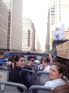 Joanna, Jeffrey, Nicole, and Victoria on the tour bus. Click photo for full size.