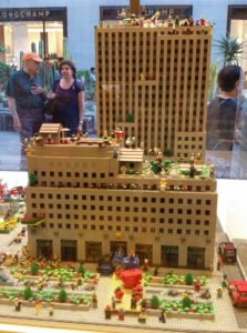 Lego version of the Rockefeller Center. Click photo for full size.