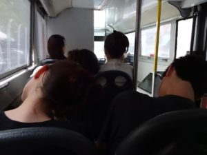 On the tour bus, heading back to Times Square. Click photo for full size.