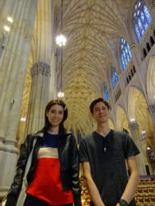 Sarah and Jeffrey in St. Patrick's Cathedral. Click photo for full size.