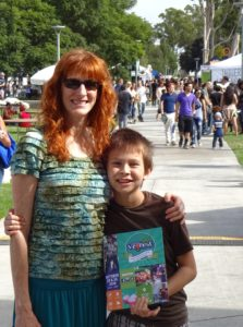 Jeri and Josiah at SoCal VegFest. Click photo for full size.