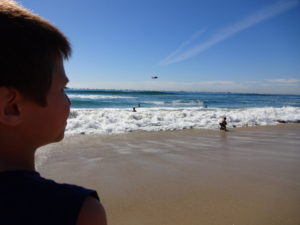 Josiah near the Water at the HB Air Show. Click photo for full size.