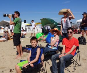 Justin, Josiah, Jeri, Nicole, and Jeffrey at the HB Air Show. Click photo for full size.